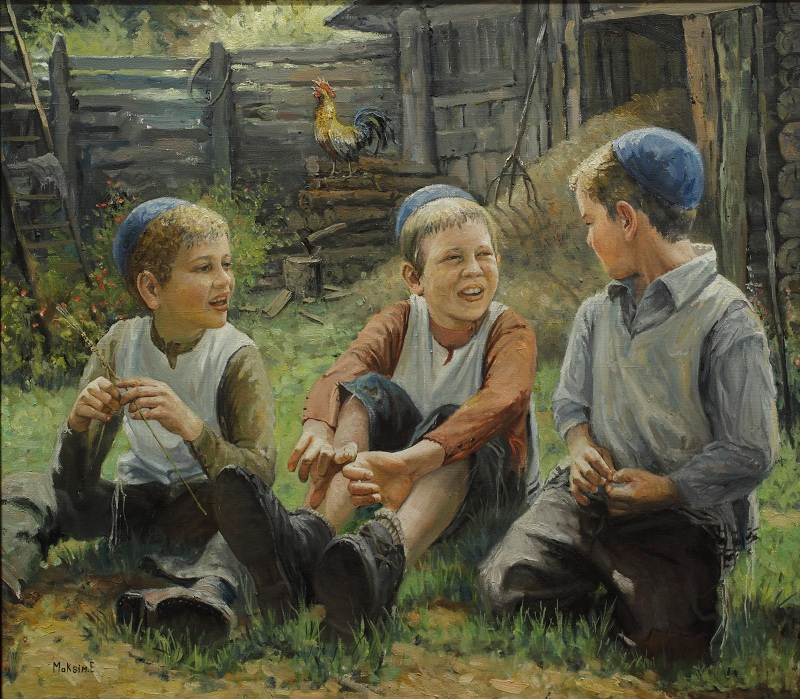 Children at the Barn